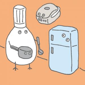 一人暮らしで料理を頑張るひとぐら君