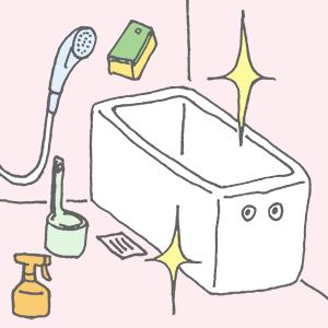 掃除をして綺麗になったお風呂さん