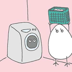 洗濯をするぐらちゃん